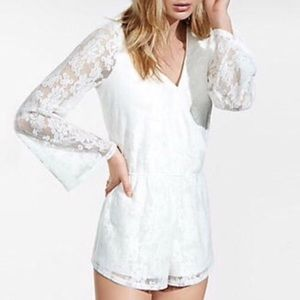 White Lace Express Romper